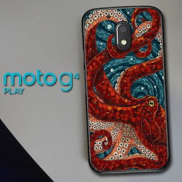 Kraken Octopus Stained Glass L1586 Motorola Moto G4 Play Case