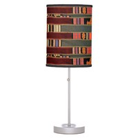 African Mud Cloth Pattern Table Lamp