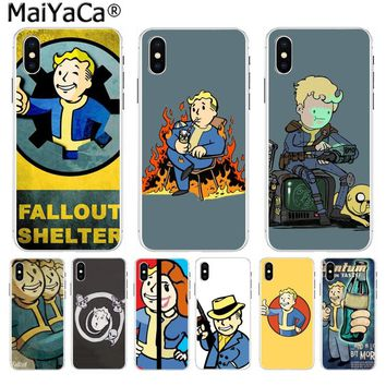 MaiYaCa Black Isle Studios game fallout new vegas boy Classic Phone case for iPhone 8 7 6 6S Plus X 10 5 5S SE XS XR XS MAX case
