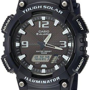 Casio Men's AQ-S810W-2A2VCF Tough Solar Analog-Digital Display Dark Blue Watch