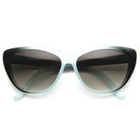 New Two Tone Fade Womens Cat Eye Sunglasses 8834