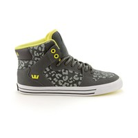 Womens Supra Vaider High Skate Shoe, Gray Lime | Journeys Shoes
