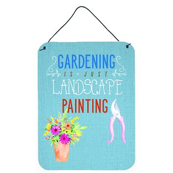 Gardening is Landscape Painting Wall or Door Hanging Prints BB5434DS1216