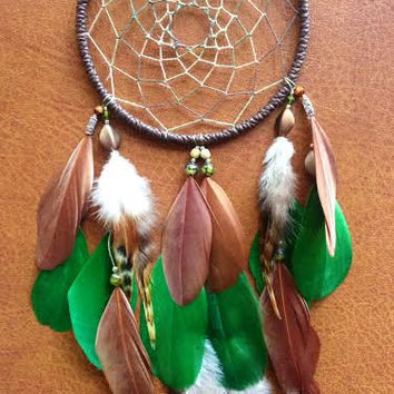 Dream Catcher - Woodland - Bohemian - Earth toned, Brown, Green