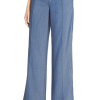 Vince Wide Leg Chambray Trousers | Nordstrom