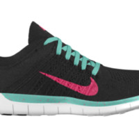 Nike Free 5.0 Flyknit Hybrid iD Custom Women's Running Shoes - Green