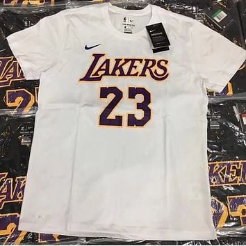 NIKE AIR JORDAN No. 23 Tide brand loose fashion NBA team T-shirt F0715-1 white