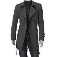 Hot sale!!2017 NEW FASHION good quality trench coat men High-end men's casual windbreaker SIZE M-3XL mc717