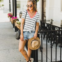 "The ""Earn Your Stripes"" Striped Tee"