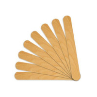 Huini 300 Count Salon Waxing Hair Removal Large Wooden Spatulas Wax Applicator 6 x 3/4in
