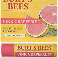 Burt's Bees 100% Natural Lip Balm, Pink Grapefruit Blister Pack, 0.3 Ounce, 2 Count