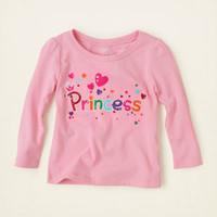 baby girl - graphic tees - princess hearts graphic tee | Children's Clothing | Kids Clothes | The Children's Place