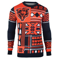 "Chicago Bears Official Men's NFL ""Ugly Patches"" Sweater by Klew"