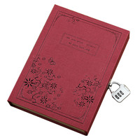 Paper Vintage Notebook Combination Lock Composition Book Daily Travel Journal Agenda Planner Organizer Office Book Stationery