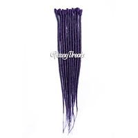 Dark Purple Single Ended Synthetic Dreadlock Extensions 20""