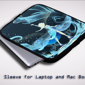 Disney Frozen Elsa ART Y1377 Sleeve for Laptop, Macbook Pro, Macbook Air (Twin Sides)