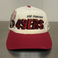 Vintage 90's Sport Specialties San Francisco 49ers Shadow Logo Snapback Pro Line NFL Football