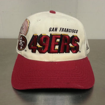 Vintage 90 s Sport Specialties San Francisco 49ers Shadow Logo Snapback Pro  Line NFL Football cdd47e949