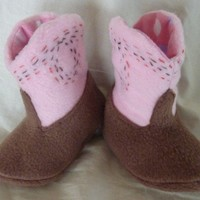 YeeHaw Cowgirl Booties | pintsized - Children's on ArtFire