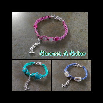 Toddler Mermaid Bracelet, Choose the Color, Matching Bracelets, Hemp,  Mermaid Jewelry, Gift for Girls, Mermaid, Friendship Bracelets