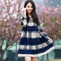 Korean Style Plaid Dress