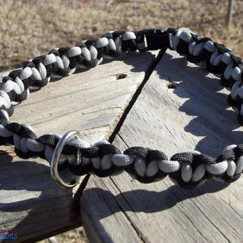 Paracord Dog Collar (Solid colors) 1 D Ring