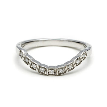 Curved Pave Tea Ring - Champagne Diamond