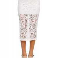Sophie Laced Midi Skirt