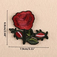 Embroidered  Flower  Applique  Patches  Pcs  Patch