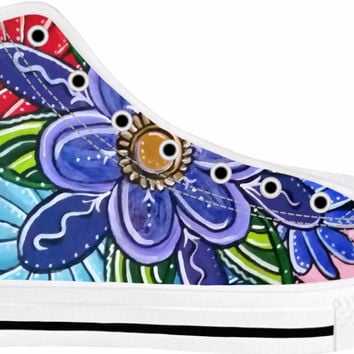 Flower White Sole High Tops