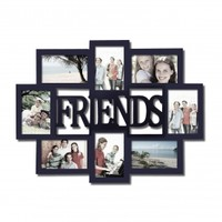 """Friends"" 8 Opening Collage Picture Frame - Adeco - PF0433"