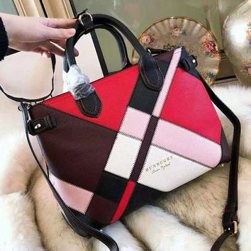 BURBERRY High Quality Fashionable Women Shopping Leather Handbag Tote Shoulder Bag Crossbody Satchel