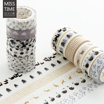 Finland Forest Series Paper DIY Masking Washi Tape Lovely Decorative Adhesive Tape For Home Decoration Christmas Gift