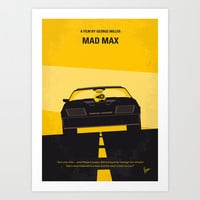 No051 My Mad Max 1 minimal movie poster Art Print by Chungkong
