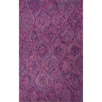 Jaipur Rugs Modern Abstract Pattern Pink Wool Area Rug NTP07 (Rectangle)