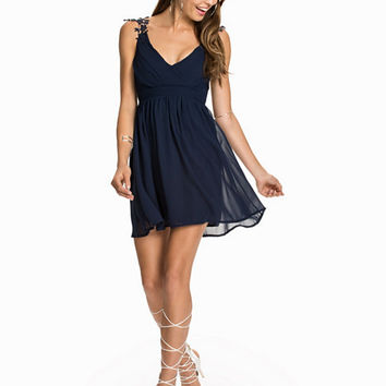 Cross Front Crochet Strap Dress, Te Amo
