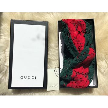 GUCCI Stereo lace cross Hairband