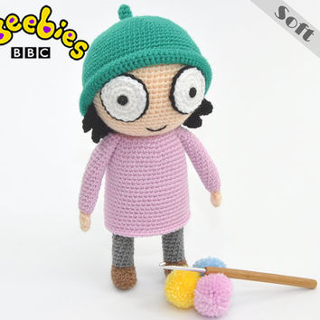 Cbeebies Sarah Soft Toy From Sarah & Duck, Crcochet, Amigurumi