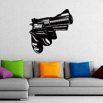 Wall Stickers Vinyl Decal Gun Revolver Gangster Mafia Weapons Unique Gift z1031