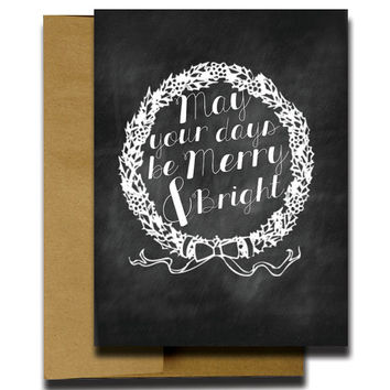 Chalkboard Christmas Cards - Christmas Greeting Cards - Holiday Christmas Cards - Boxed Christmas Cards - Unique Christmas Cards - 4.25x5.5