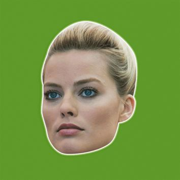 Serious Margot Robbie Mask by RapMasks
