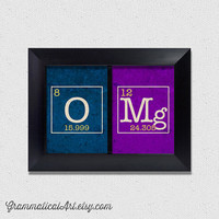 OMg Science Periodic Table Prints   Great by GrammaticalArt