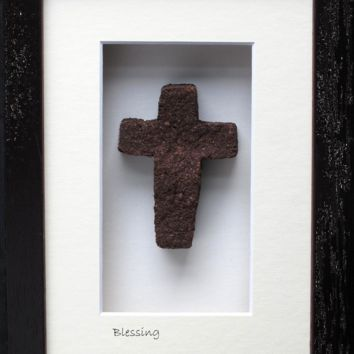 """Blessing"" Picture, Made in Ireland from 10,000 year old Irish Bog/Peat"