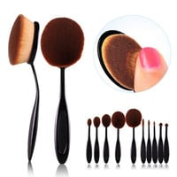 Beauty Make Up Toothbrush Shaped Foundation Powder Brushes Kit Face Cosmetic Make Up Brush Sets
