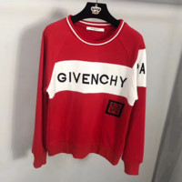 Givenchy HOT SALE Round neck letters printed loose long sleeve sweater