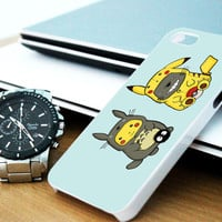 Totoro Pokemon iPhone 4/4S / 5/ 5s/ 5c case, Samsung Galaxy S3/ S4 case, iPod Touch 4 / 5 case