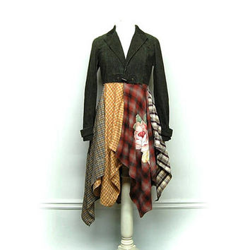 Long Boho Duster,  Long Hippie Jacket, Long Bohemian Jacket, Boho Clothing, Hippie Clothing, Festival Clothing, Upcycled Clothing