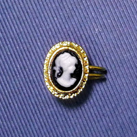 Tiny cameo gold charm Ear Cuff, Nose cuff, Tragus cuff, charm ear cuff,  Non Pierced Nose Ring, Cartilage, Fake piercing