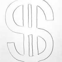 "A drawing by Andy Warhol: ""I like money on the wall"" he once said"