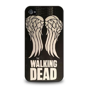 walking dead daryl dixon wings iphone 4 4s case cover  number 1